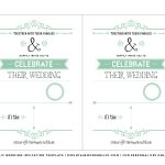 Free Wedding Invitation Template | Mountainmodernlife   Free Printable Postcard Invitations Template