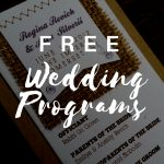 Free Wedding Program Templates | Wedding Program Ideas   Free Printable Wedding Program Templates