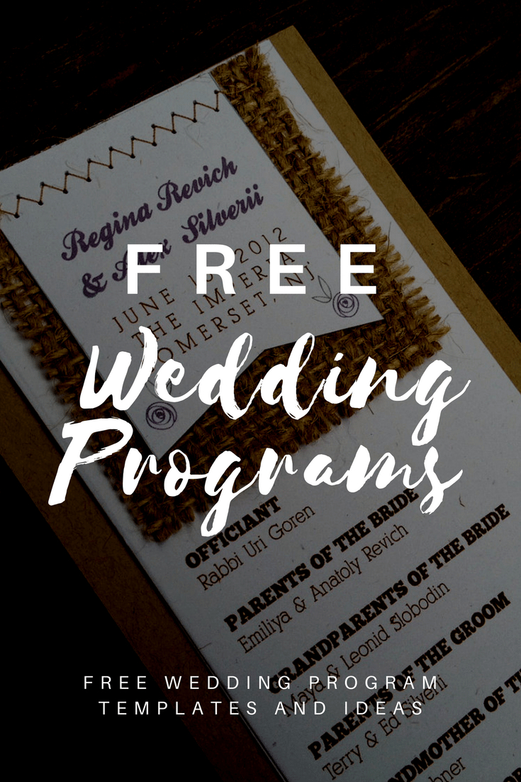 Free Wedding Program Templates | Wedding Program Ideas - Free Printable Wedding Program Templates