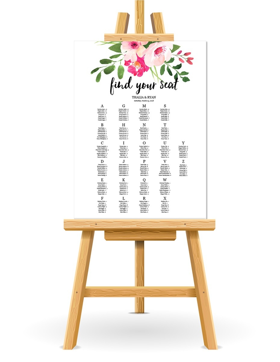Free Wedding Seating Chart Printable - Free Printable Wedding Seating Plan