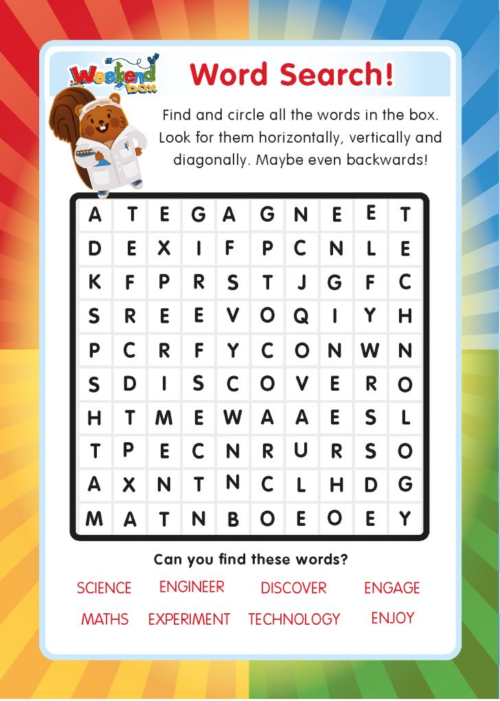 Free Online Printable Word Search