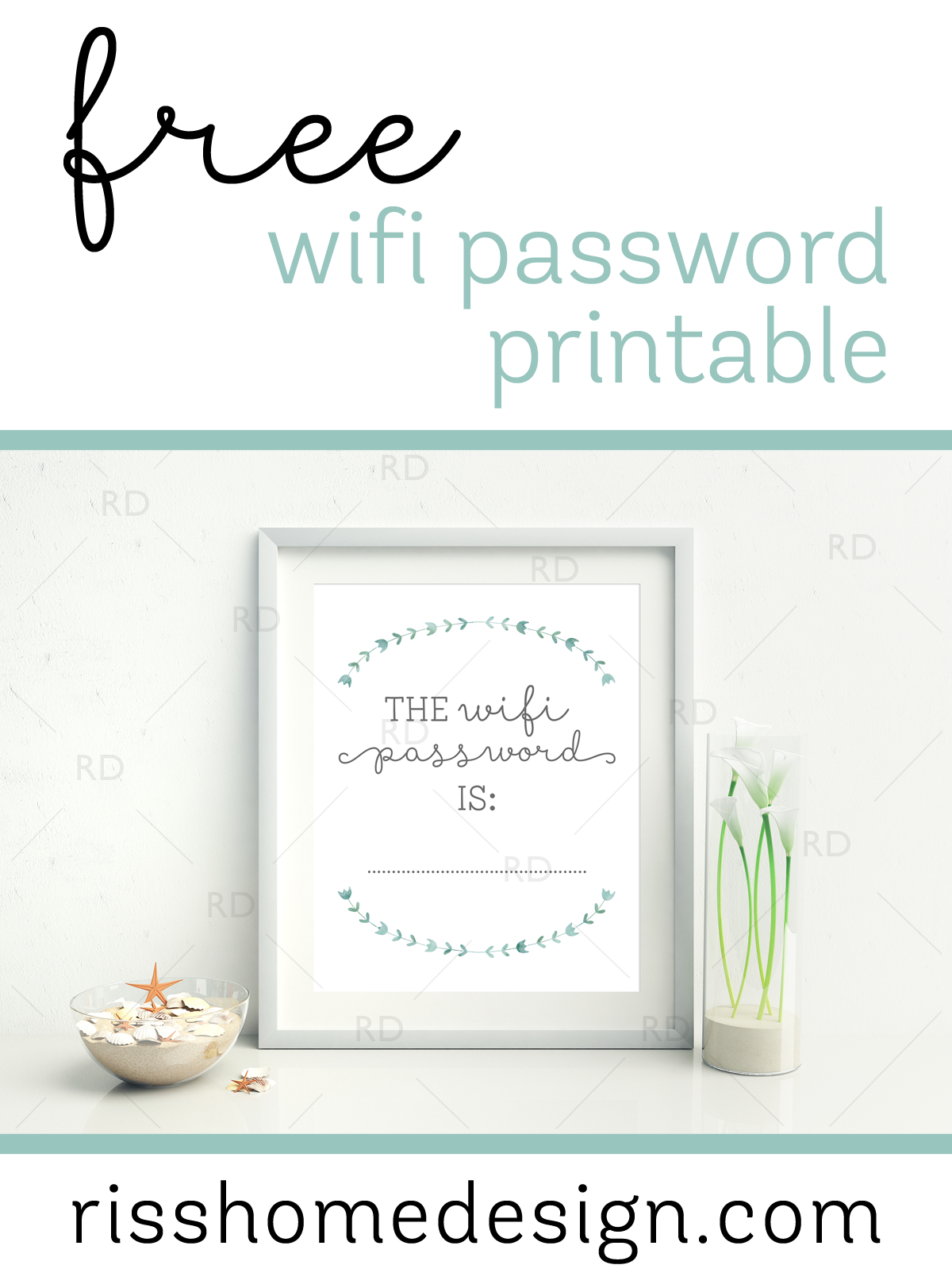 Free Wifi Password Printable For Your Home! Awesome To Display In A - Free Printable Wifi Password Template