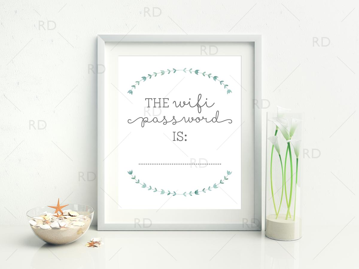 Free Wifi Password Printable | Riss Home Design | Home Decor, Design - Free Wifi Password Printable