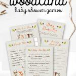 Free Woodland Fox Baby Shower Games Printable Package Instant   Free Baby Shower Printables
