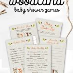 Free Woodland Fox Baby Shower Games Printable Package Instant   Woodland Baby Shower Games Free Printables