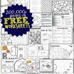 Free Worksheets   200,000+ For Prek 6Th | 123 Homeschool 4 Me   Free Printable Nursery Resources