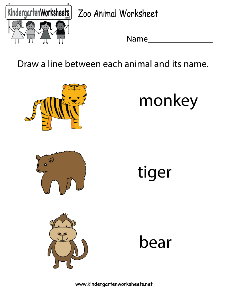Free Zoo Animal Worksheet For Kindergarteners. This Would Be A Great - Free Zoo Printables For Preschool