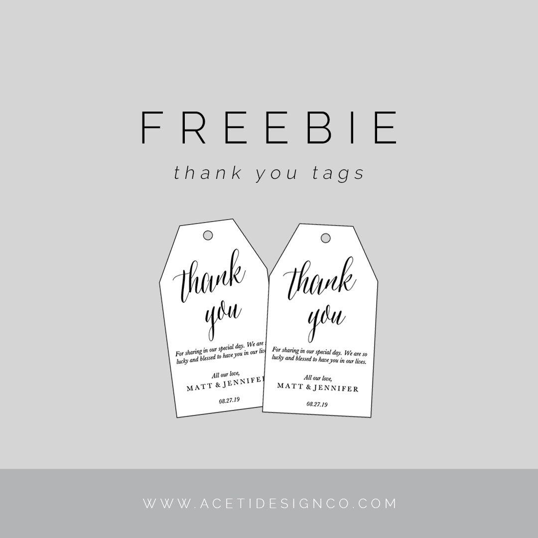 Freebie: Editable Thank You Tags | Gift Tags | Free Printable Gift - Free Printable Thank You Tags