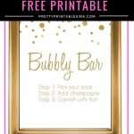Freebie Friday   Bubbly Bar Sign | Birthday | Bubbly Bar, Bridal   Free Sangria Bar Sign Printable