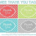 Freebie} Printable Thank You Tags | Primary | Thank You Tags, Thank   Free Printable Thank You Tags