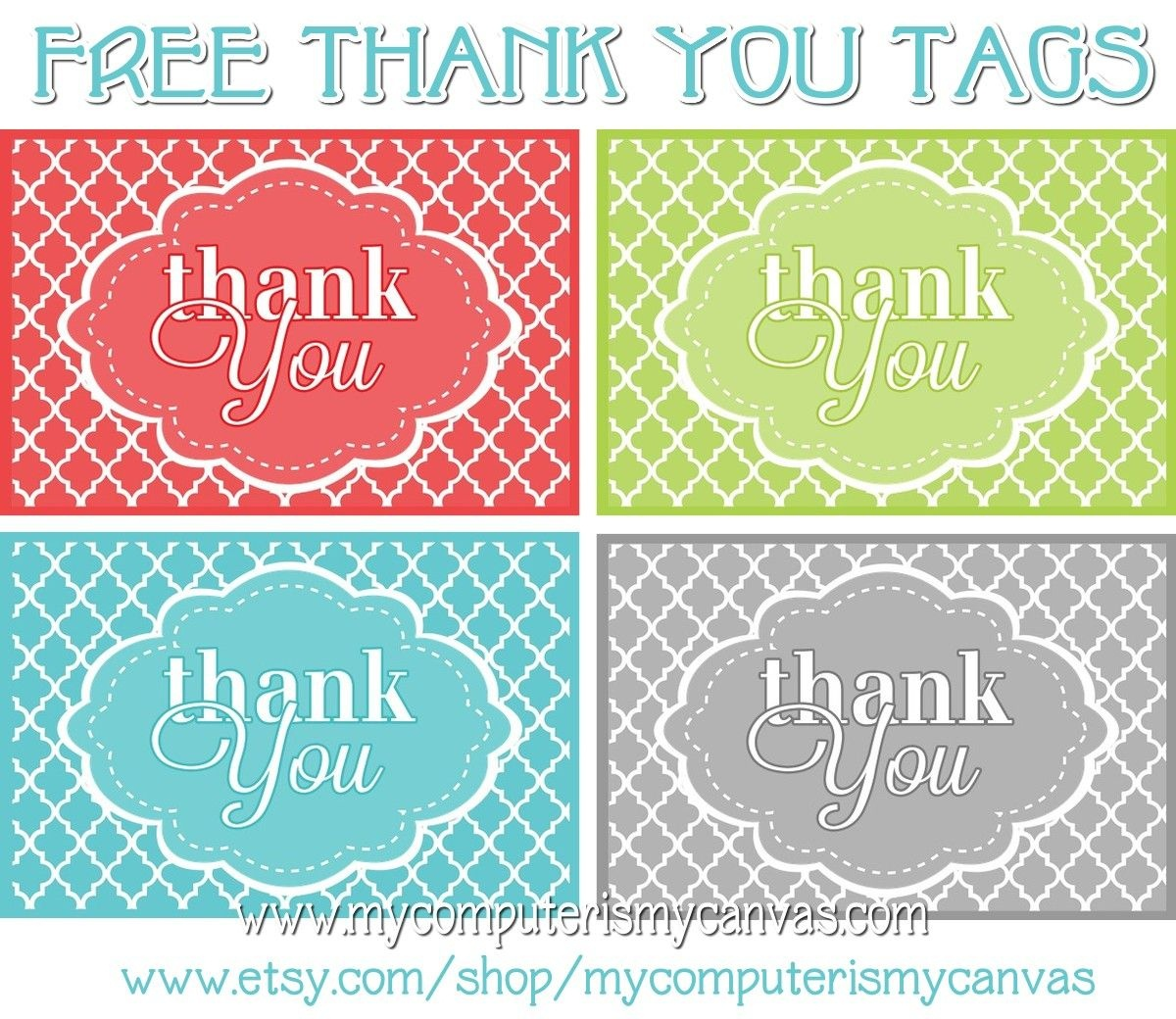 Freebie} Printable Thank You Tags | Primary | Thank You Tags, Thank - Free Printable Thank You Tags