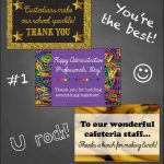 Freebie Support Staff Thank You Notes | Grades 3 6 | School   Administrative Professionals Cards Printable Free