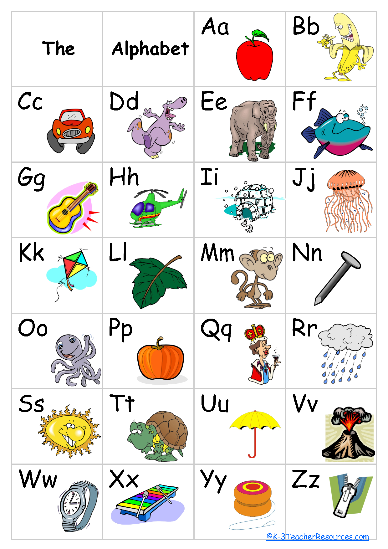 Free+Printable+Alphabet+Chart | Schoolroom Ideas | Alphabet Charts - Free Printable Alphabet Chart
