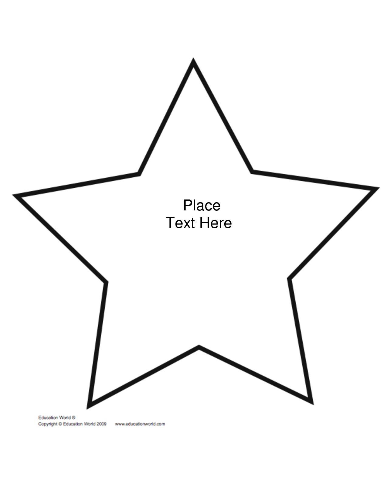Free+Printable+Star+Shape+Templates | Biblical Preschool Lessons - Large Printable Shapes Free