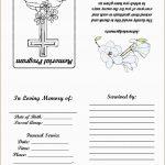 Fresh Free Funeral Service Program Template Word | Best Of Template   Free Printable Funeral Program Template