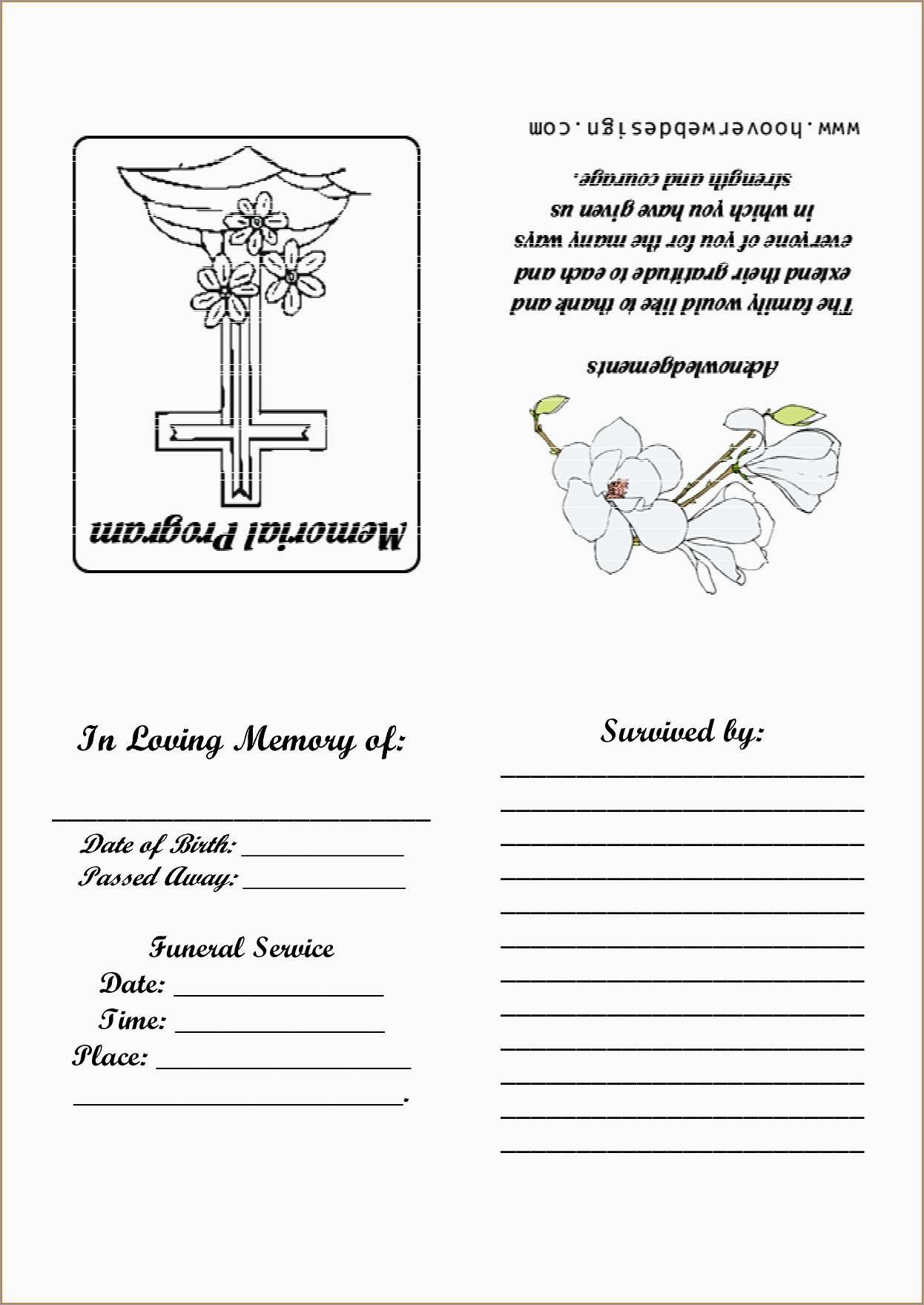 Fresh Free Funeral Service Program Template Word | Best Of Template - Free Printable Funeral Program Template