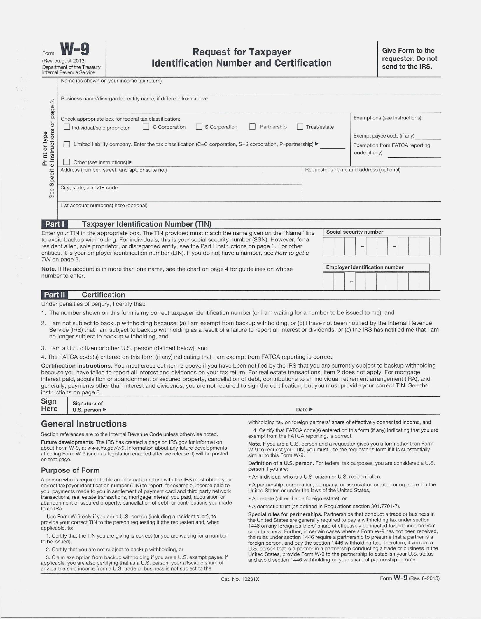 Fresh Free Printable W 14 Form | Downloadtarget – W9 Form Printable - Free Printable W 9