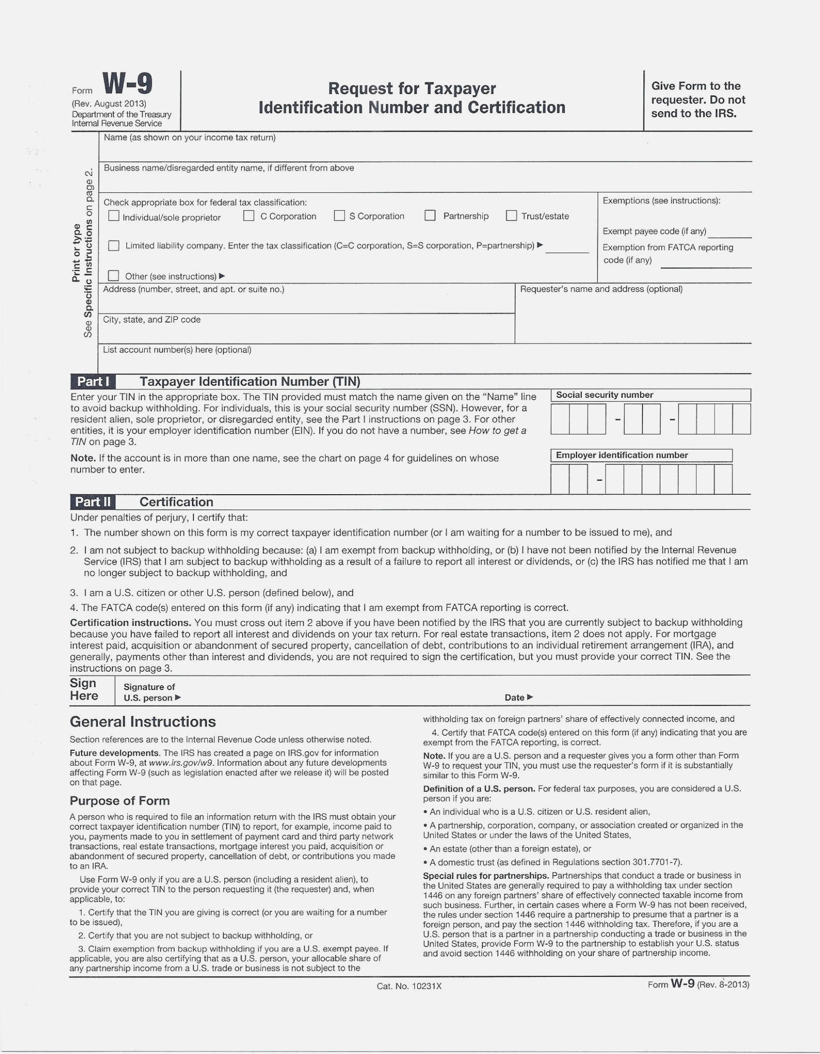 Fresh Free Printable W 14 Form | Downloadtarget – W9 Form Printable - W9 Form Printable 2017 Free