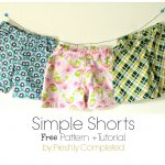 Freshly Completed: Simple Shorts    Free Pattern + Tutorial   Free Printable Sewing Patterns For Kids