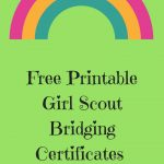 Friday Freebie Free Printable Girl Scout Bridging Certificates   Free Bridging Certificate Printable