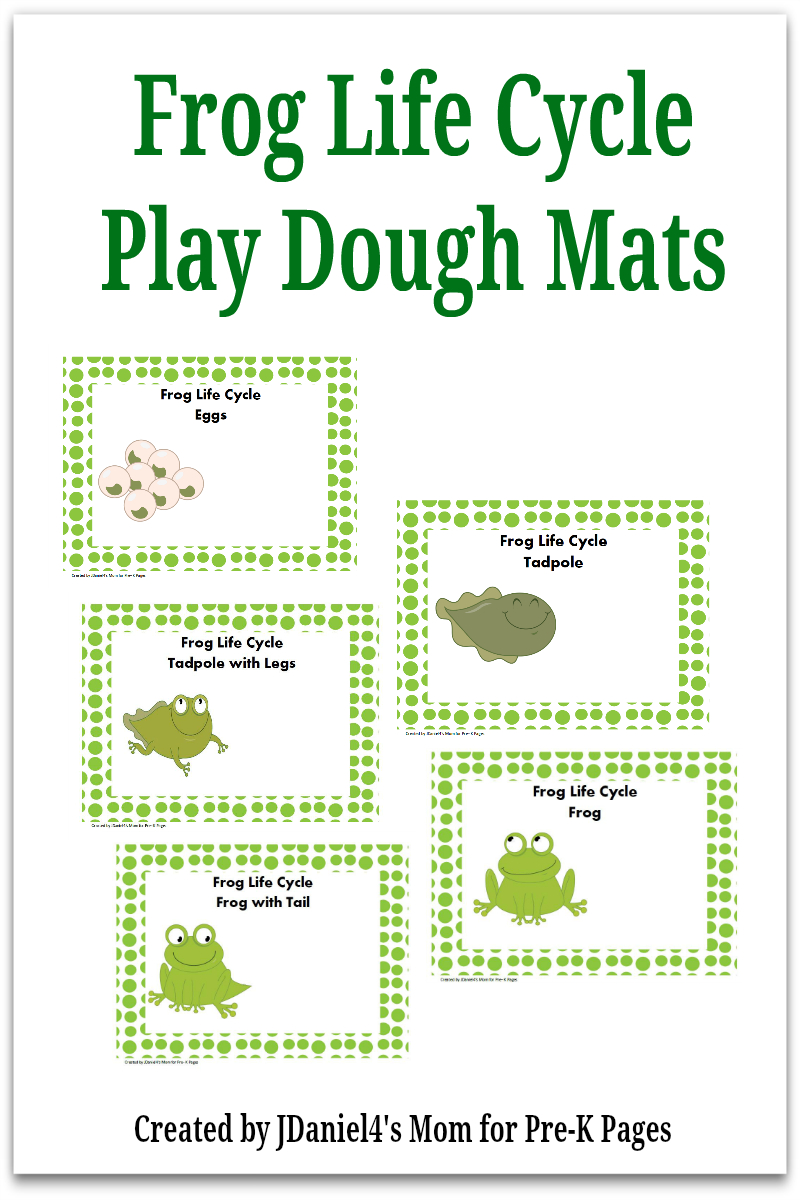 Frog Life Cycle Play Dough Activity - Pre-K Pages - Life Cycle Of A Frog Free Printable Book