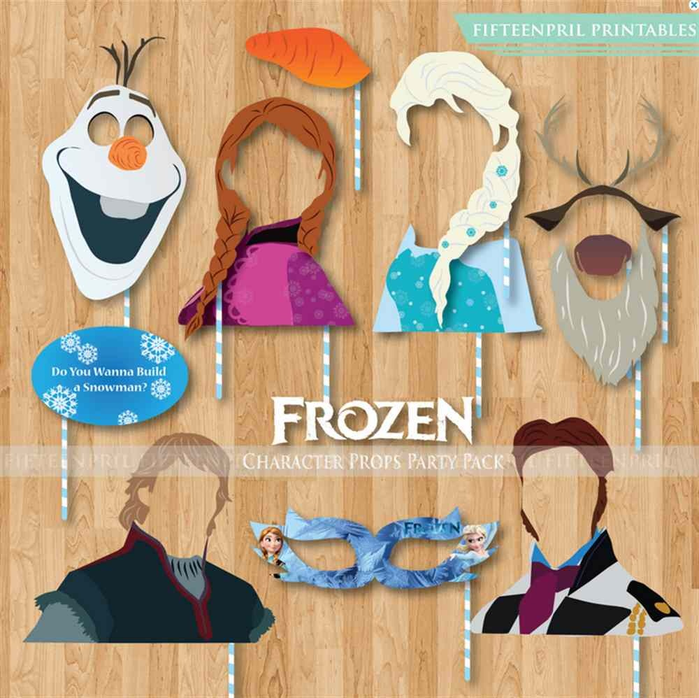 Frozen Characters Party Props Printables Pack-Photobooth Party - Free Printable Frozen Photo Booth Props