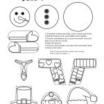 Frugal Edmonton Mama: Frugal Crafts: Preschool Snowman Shape Cutting   Free Printable Crafts For Preschoolers