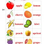 Fruit Memory Game Worksheet   Free Esl Printable Worksheets Made   Free Printable Memory Exercises