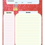 Full Page Recipe Card | Printable Recipe Cards | Food Recipes   Create Your Own Free Printable Cookbook