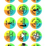 """Fun, 1"""" Images For Making Geocaching Trade Items. They Fit Perfectly   Geocache Label Free Printable"""