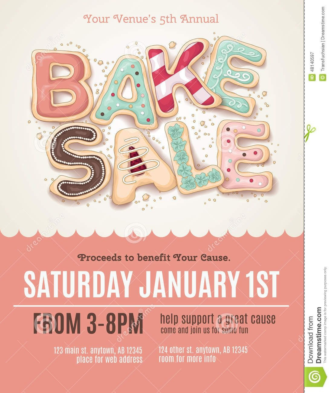 Fun Cookie Bake Sale Flyer Template - Download From Over 56 Million - Free Printable Flyer Templates