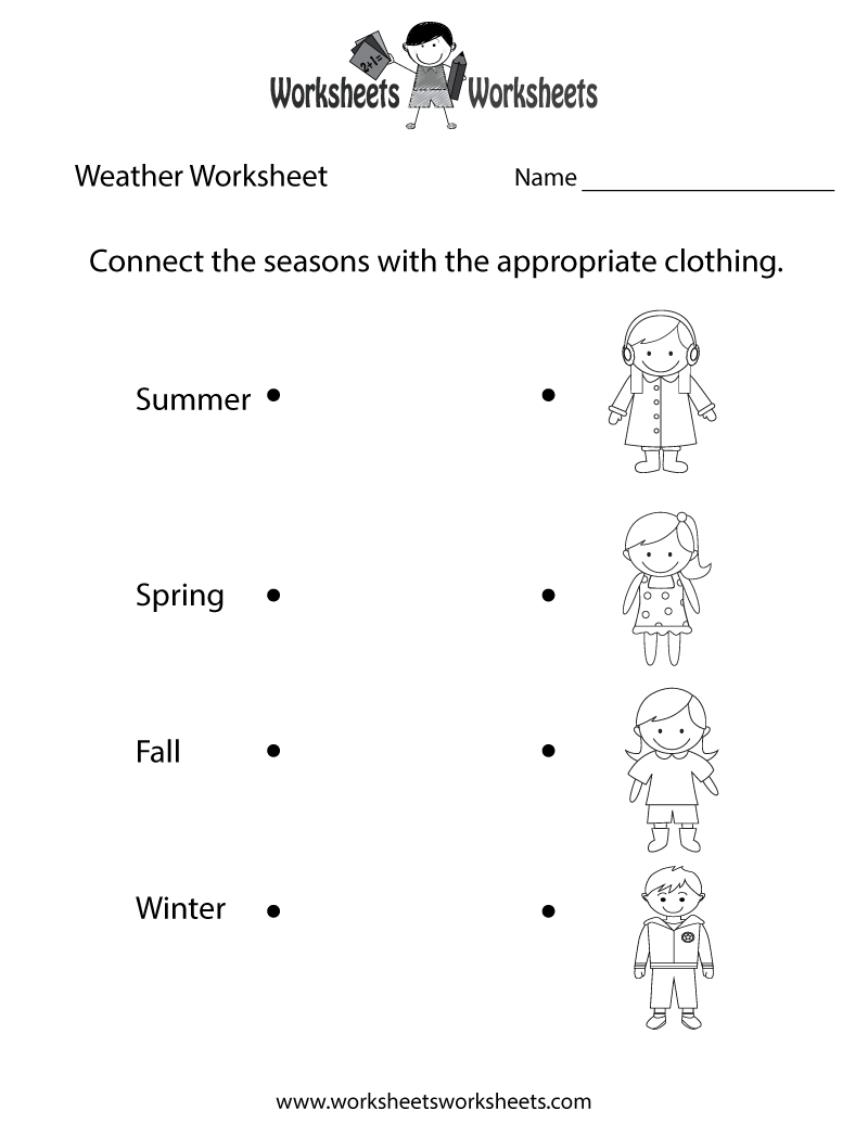 Fun Weather Worksheet Printable | Study Material | Weather - Free Printable Science Worksheets