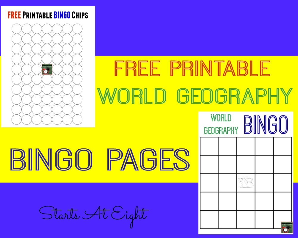 Fun With Geography ~ Free Geography Printables - Startsateight - Free Printable Bingo Chips