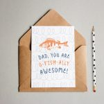 Funny Free Printable Father's Day Card (O Fish Ally Awesome!)   Free Printable Fathers Day Cards