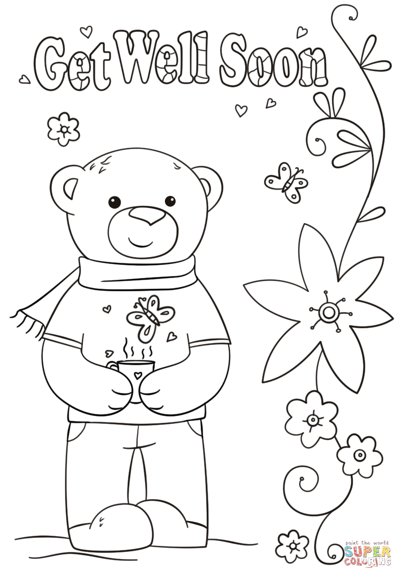 Funny Get Well Soon Coloring Page | Free Printable Coloring Pages - Free Printable Get Well Card For Child To Color