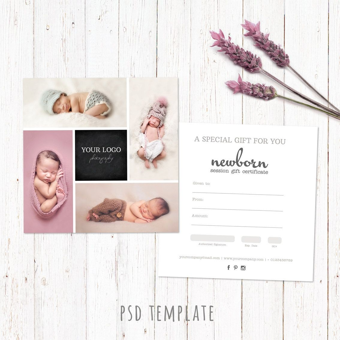 Gift Certificate Template. Newborn Session Photography Gift Card - Free Printable Photography Gift Certificate Template