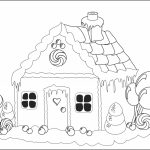 Gingerbread House Coloring Pages Printable   Coloring Home   Free Gingerbread House Printables