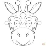 Giraffe Mask Coloring Page | Free Printable Coloring Pages   Giraffe Mask Template Printable Free