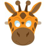 Giraffe Mask Template | Free Printable Papercraft Templates   Giraffe Mask Template Printable Free