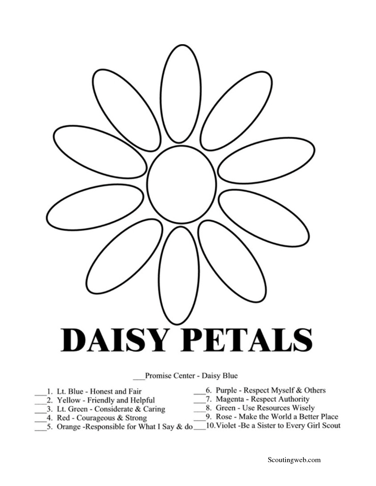 Girl Scout Free Printable Coloring Page | Girl Scouts | Girl Scout - Free Daisy Girl Scout Printables