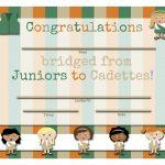 Girl Scouts: Free Printable Bridging Certificates   Juniors To   Free Bridging Certificate Printable