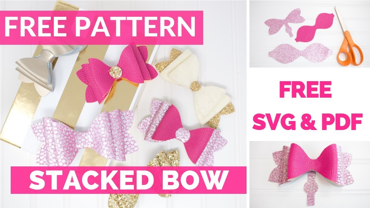 Girls French Hair Bow Tutorial & Free Pattern - Youtube - Free Printable Bow Template