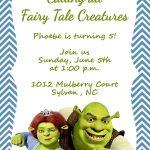 Girls Or Boys Shrek Printable Birthday Party Invitation | Etsy   Free Printable Shrek Invitations