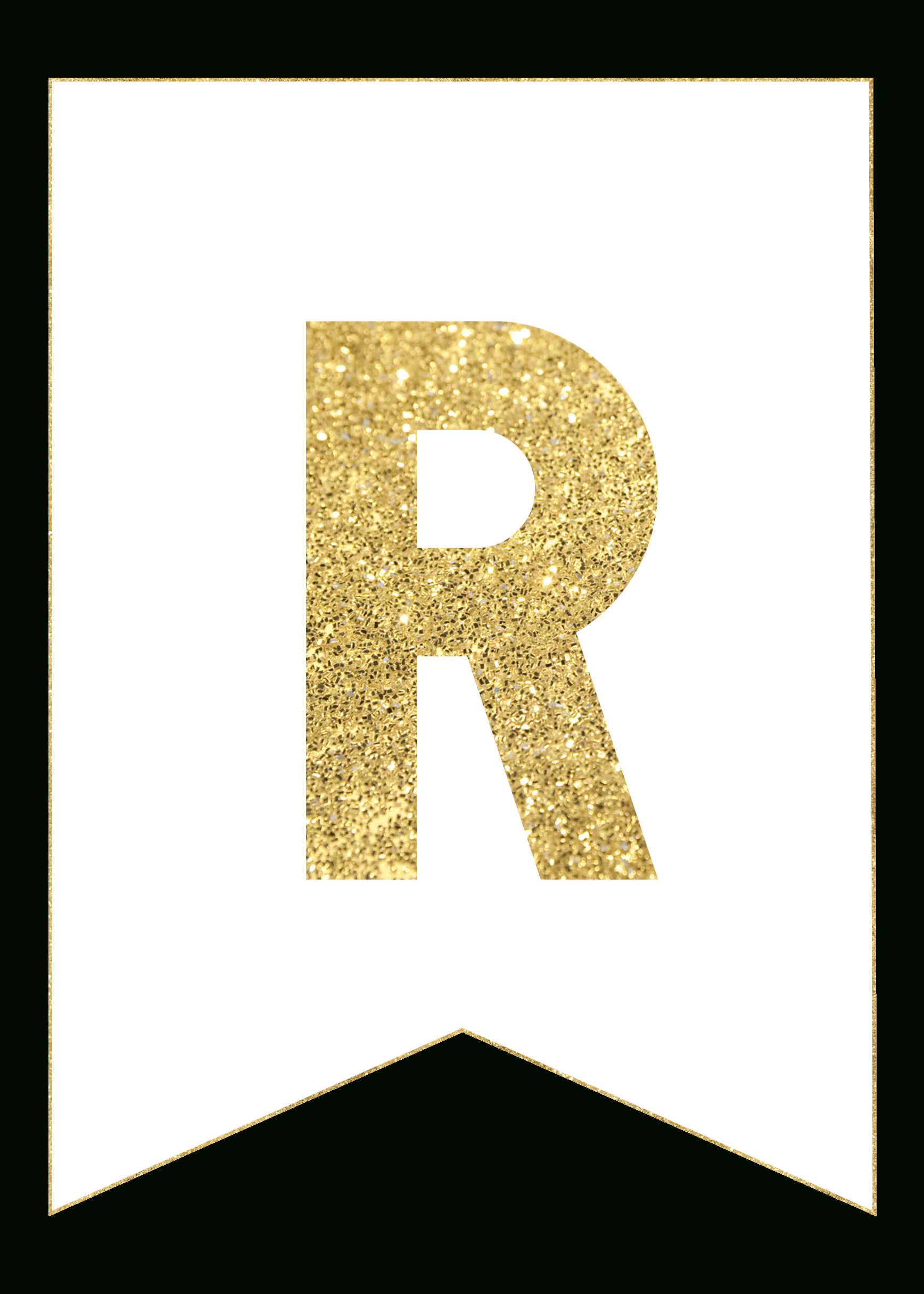Gold Free Printable Banner Letters | Rolas Party | Free Printable - Free Printable Banners