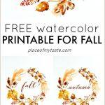 Grab This Pretty Free Autumn Printable! So Lovely♥ | { Printables   Free Autumn Printables