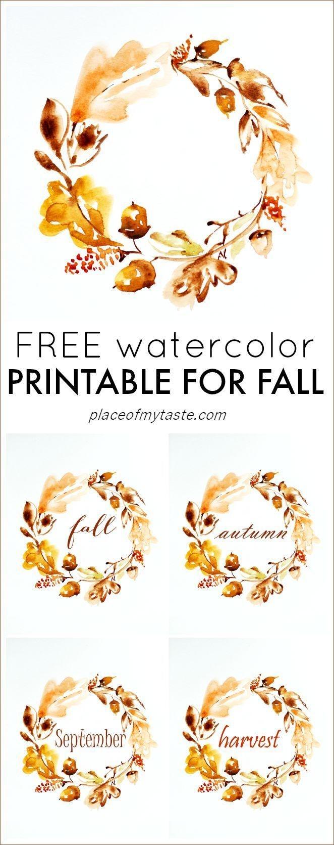 Grab This Pretty Free Autumn Printable! So Lovely♥ | { Printables - Free Autumn Printables