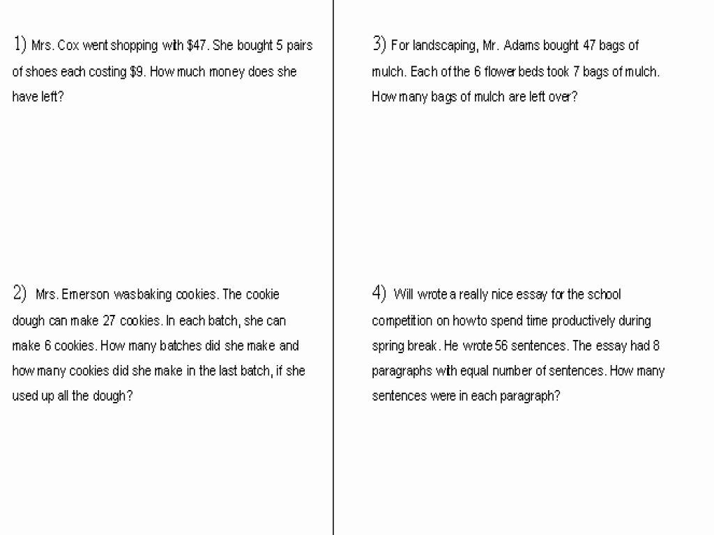 Grade Long Division Worksheets 5Th Grade Elegant Money Math Word - Free Printable Long Division Worksheets 5Th Grade