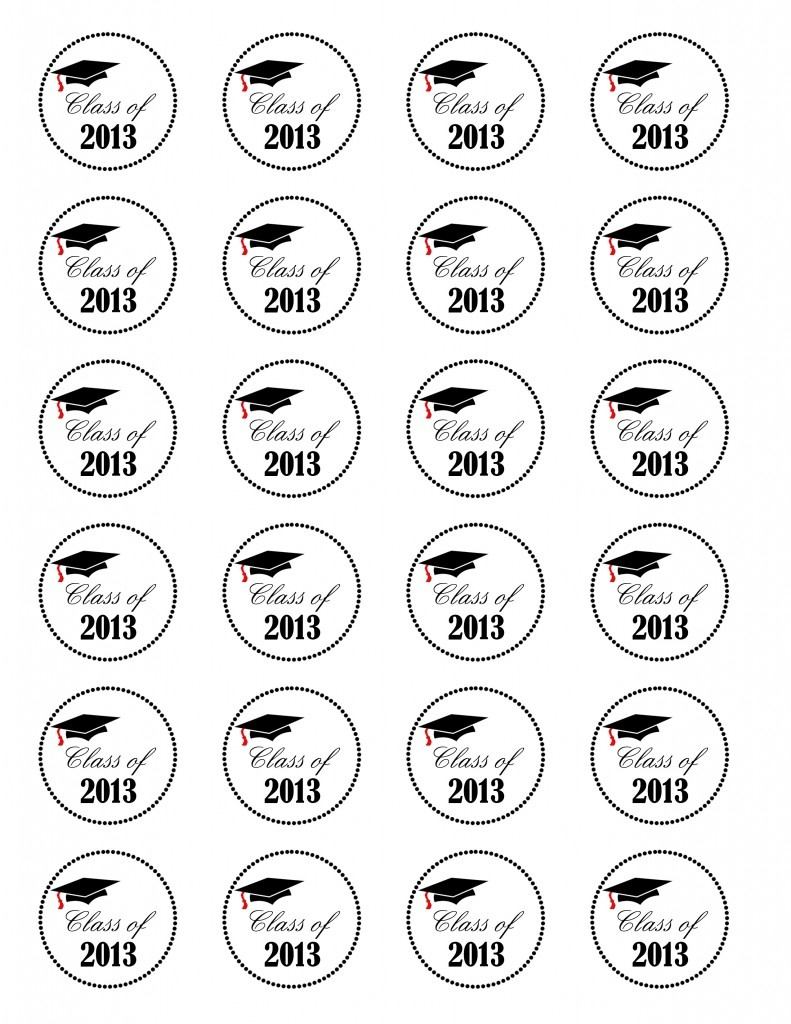 Graduation Cupcakes {Class Of 2013} Free Printable - Nola Mommy - Free Printable Graduation Cupcake Toppers