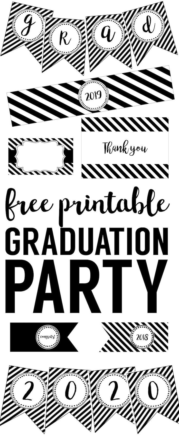 Graduation Party Free Printables | Printables And Instant Downloads - Free Printable Graduation Cupcake Toppers