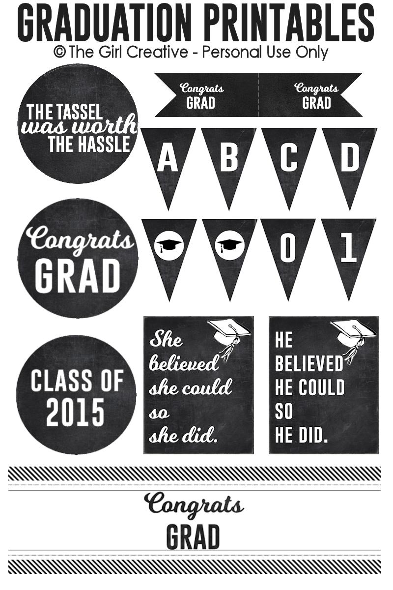 Graduation Printables | Best Of Pinterest | Graduation, Graduation - Free Graduation Printables 2017